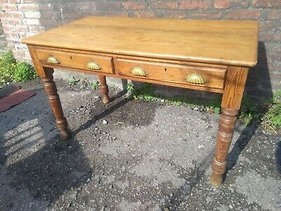 Antique Victorian Pine Kitchen Table, side table, desk.