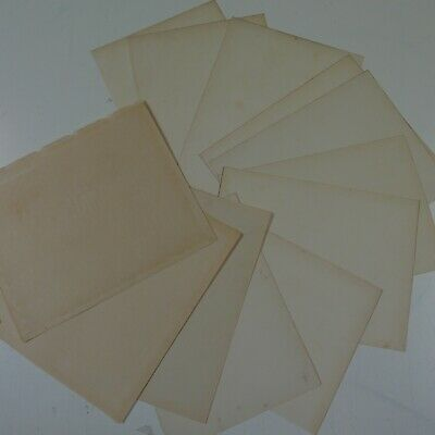 12 sheets genuine reclaimed antique plain paper , light toning & foxing , A4