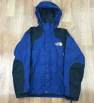 Vintage THE NORTH FACE Mens GORETEX Rain Jacket | Retro Hooded | Small Blue