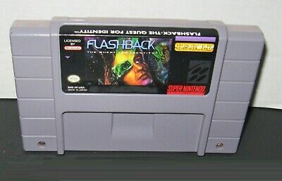 Flashback: The Quest for Identity SNES Game CARTRIDGE ONLY Super Nintendo fun