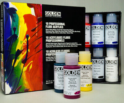 Golden Professional  Artist Fluid Acrylic Set 10 x 30 ml