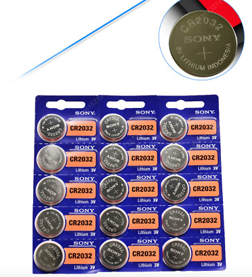5 Pcs CR2032 Lithium Battery DL2032 Sony 2032 3V coin cell button batteries