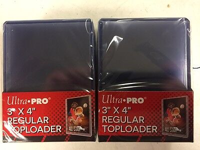 50 Ultra Pro Regular 3 x 4 Toploaders New top loaders Rigid Plastic SEALED
