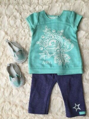 AMERICAN GIRL TRULY ME OUTFIT COMPLETE WITH MATCHING SHOES - vgc