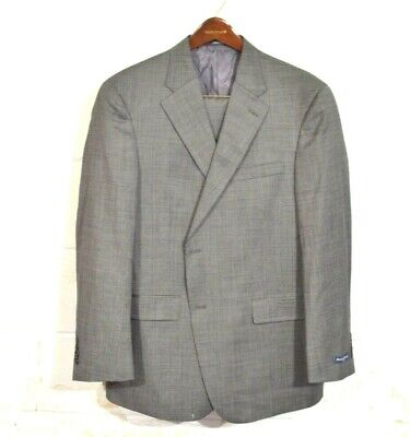 NEW Austin Reed 44R / 38 Gray Woven Fairfield 2 Button USA Recent Wool Suit