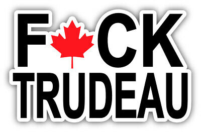 F Trudeau Laminated sticker Vinyl Decal 4x6 '' ship same day