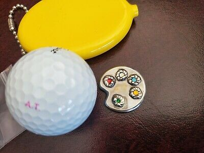 Hand Stamped Putter Ball Marker Paint Palette