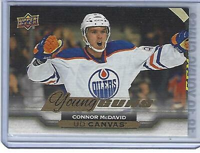 Connor McDavid 15/16 Upper Deck Series Two Young Guns Canvas Rookie C211