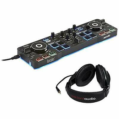 Hercules DJControl Starlight with LED Light & R100 Stereo Headphones Bundle
