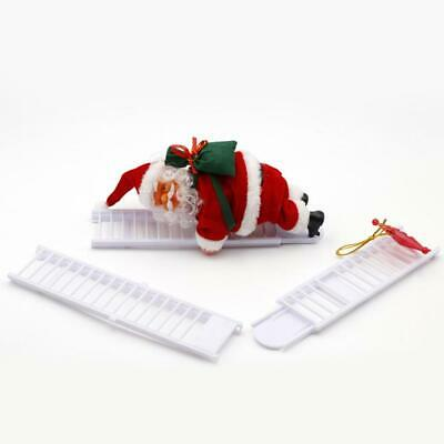 Electric Singing Santa Claus Climbing Ladder Doll Decoration Plush Doll Toy Gift