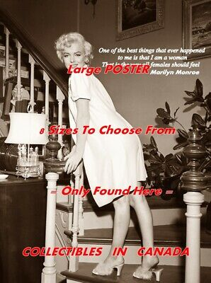 "Marilyn Monroe /""Insecure/"" Quote Poster Print 7/""x21/"" On Matte Canvas"
