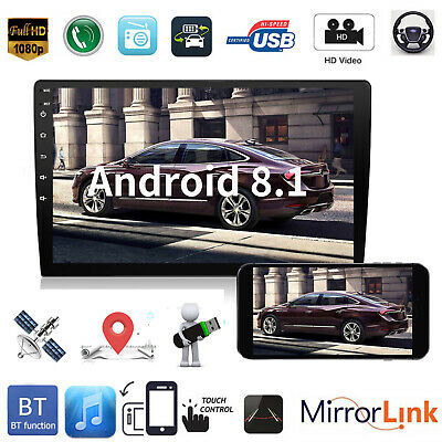 """2 DIN 9"""" HD Android 8.1 Car Stereo MP5 Player GPS WiFi BT Speed Display FM Radio"""