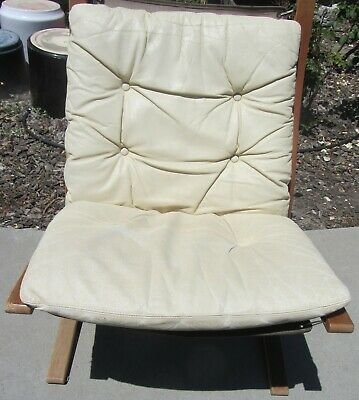 Ingmar Relling Westnofa Siesta Leather Chair Norway Mid Century Danish Modern