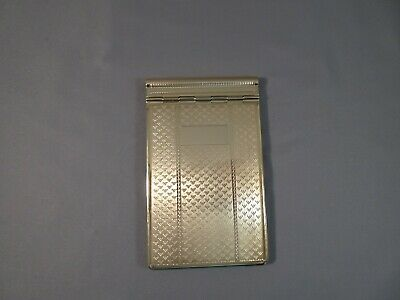 Vintage Tallent Brand Made in England Gold Tone Metal Hinged Notepad Engraveable