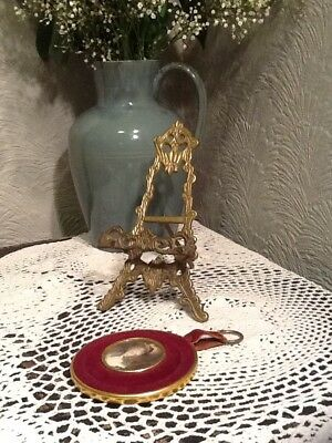 Vintage Art Nouveau Style Ornate Brass Picture Easel/Stand#2926