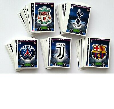 Match Attax Champions League 2018/19 Full Set Of 329 Base Cards Mint