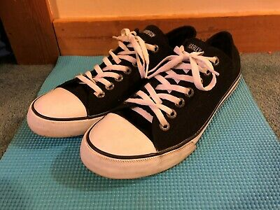 Harley-Davidson Canvas Low Top Sneakers Men's Shoes 11 Black White Free Shipping