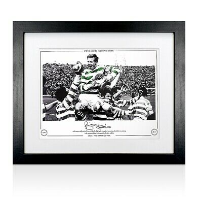 Framed Billy McNeill Signed Celtic Photo - 1965 Scottish Cup Final Autograph