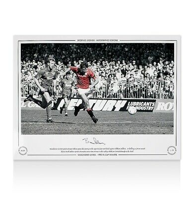 Bryan Robson Signed Manchester United Photo - 1990 FA Cup Winner Autograph