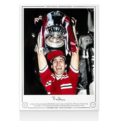 Bryan Robson Signed Manchester United Photo - 1983 FA Cup Winners Autograph