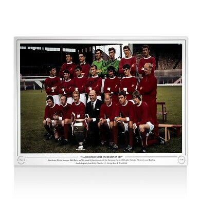 Multi Signed Manchester United Photo - 1968 European Cup Autograph