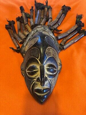 African Traditional Tribal Mask - Hand Carved