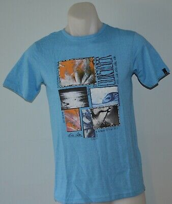 Quiksilver Boys Printed T Shirt - BLUE- SIZE - 14 YEARS - NEW