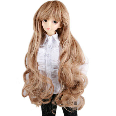 "New 1//6 BJD SD MDD  Doll Wig Wavy Hair Long Dollfie 6 /""Bjd Doll Wig Tata0370"