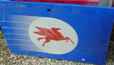 Metal Sign Insert Panel Mobil Gas Red Pegasus Logo