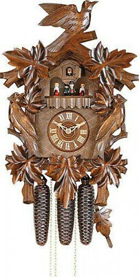 Antique German Cuckoo Clock Carved Black Forest 8 Day Movement Home Decor 20