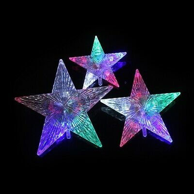 Christmas Colored RGB Five-Pointed Star LED Light for Xmas Tree Party Decoration