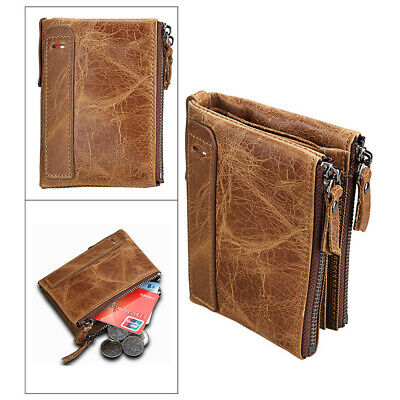 RFID NFC BLOCKING Mens Mans Leather Wallet Credit Card Coin Pocket with Chain