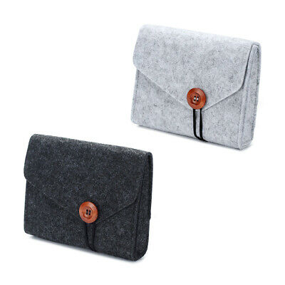 Travel Storage Bag USB Charger Data Cable Wire Electronics Organizer Felt Pouch