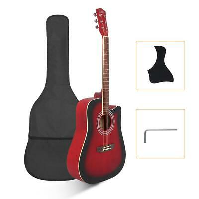"New Glarry 41"" Acoustic 6-String Guitar for Beginners Students Black"
