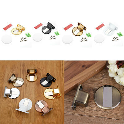 Magnetic FLOOR WALL mounted door stops holder catch stop-Satin Chrome Matt