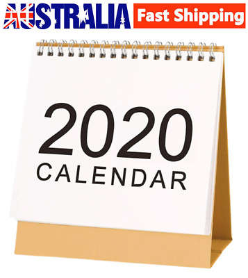 2019-2020 Monthly Desk Calendar Flip Stand Up Table Planner Date Notepad Calenda