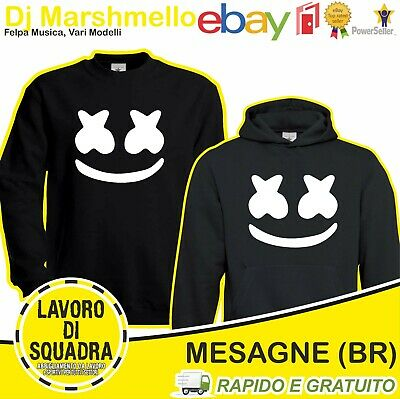 Felpa - DJ MARSHMELLO - Face Electronic Dance Tribute Musica Music Italian Album