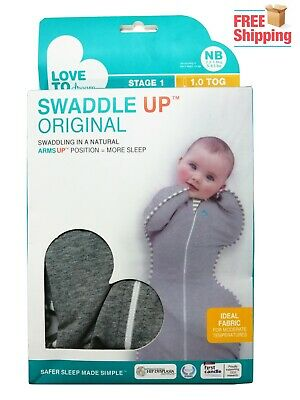 Love To Dream Swaddle UP, Gray, Small,Dramatically Better Sleep Size: Newbron