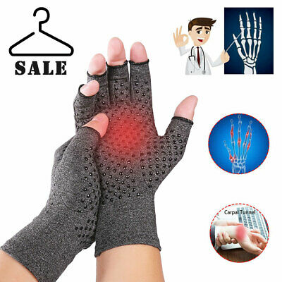 1Pair Anti Arthritis Gloves Hand Support Pain Relief Finger Compression Therapy