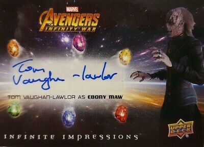 Avengers Infinity War 2018 Autograph Card II-EM Tom Vaughan-Lawlor as Ebony Maw