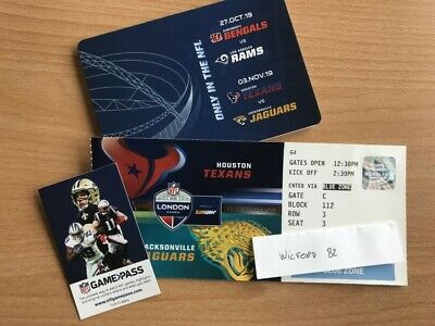 NFL London Ticket (1 NFL Ticket for the Texans Jaguars Game @ Wembley 03/11/2019