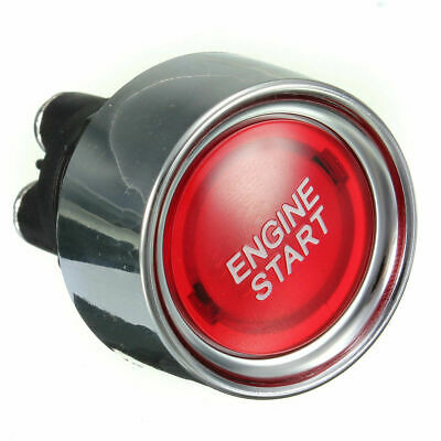 Bouton 12V Lumineux START Engine démarrage Moteur Push Button Switch Red Rouge
