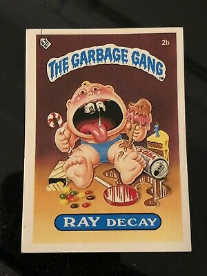 2b Ray Decay New Zealand Series 1 The Garbage Gang Trading Card Pail Kids