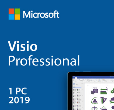 Microsoft Visio 2019 Pro Professional 32&64 Bit Activation Product Key 1 PC