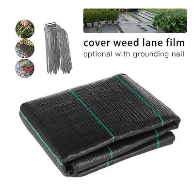 3/4/6x32FT Landscape Weed Control Membrane Fabric Ground Cover Barrier Block Mat