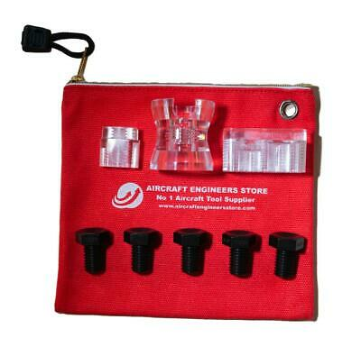 Aircraft Tools 8Pc Numbered Drill Bush Kit With Cup / Holders  Aes Storage Pouch