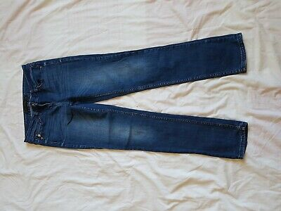 "Ladies Next Faded Blue Relaxed Skinnyjeans Size 28"" Waist 29"" Leg  Size 8R"