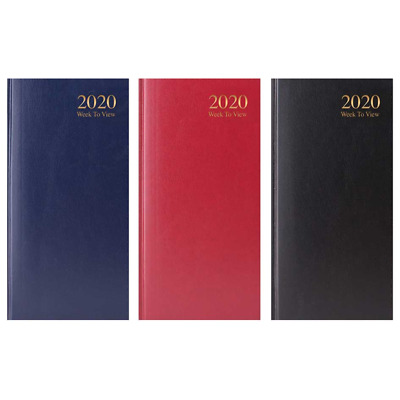 2020 SLIM POCKET DIARY - Hardback Covers - Lightweight & Compact - 3 Colours