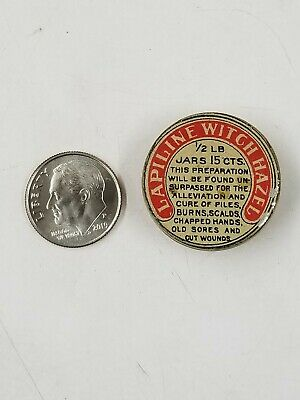 Vintage Lapiline Witch Hazel Miniature Sample Medicine Tin Detroit