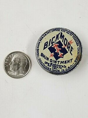 Vintage Bickmore Skin Ointment Miniature Sample Medicine Tin Old Town Me